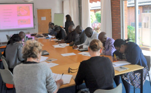 Stakeholder meeting at the Swedish Embassy in Zambia to design new distribution system for RUTF