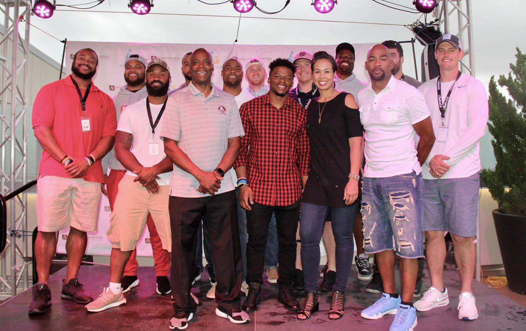 CEO and Redskins Players